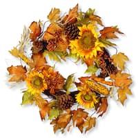 National Tree Company 24-inch Autumn Sunflower Wreath