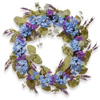 National Tree Company Blue 32-inch Artificial Hydrangea Wreath