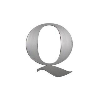 Letter2Word 'Letter Q' Silvertone PVC Dimensional Letter Decor
