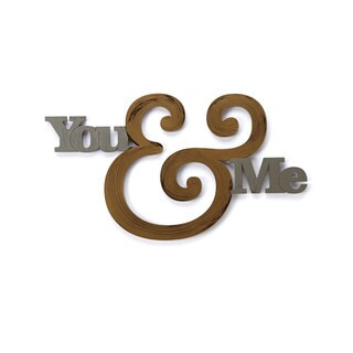 Letter2Word You & Me' Dimensional Dcor