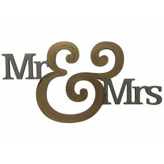 Letter2Word 'Mr Mrs' PVC Foam Board Dimensional Decor