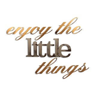 Letter2Word Enjoy The Little Things DImensional Decor