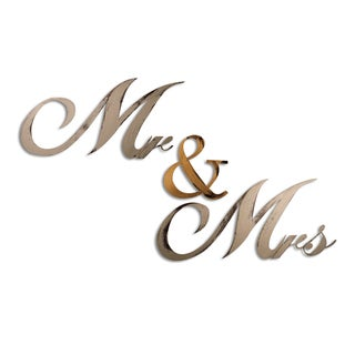 Letter2Word Mr and Mrs Dimensional Decor
