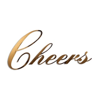 Letter2Word 'Cheers' PVC Dimensional Decor