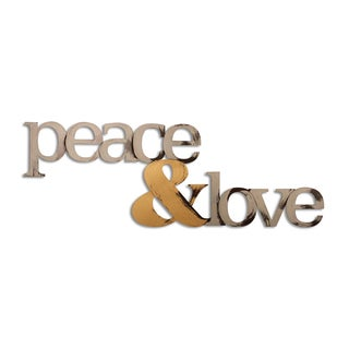 Letter2Word 'Peace and Love' Dimensional Decor