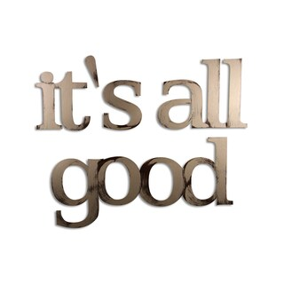 Letter2Word 'It's All Good' Dimensional Home Decor