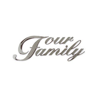 Letter2Word 'Our Family' PVC Foam Board Dimensional Decor