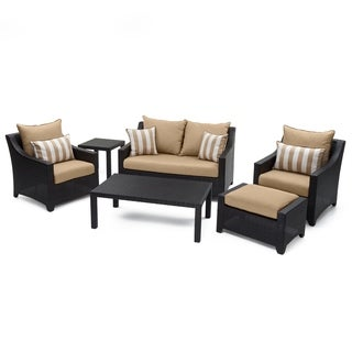 Deco 6pc Love and Club Seating Set in Maxim Beige by RST Brands