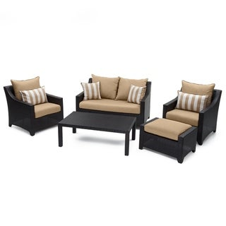 Link to Deco 5pc Love and Club Seating Set in Maxim Beige by RST Brands Similar Items in Outdoor Loveseat