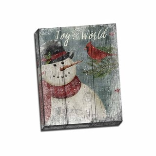 Picture It on Canvas 'Cardinal Snowman' 20-inch x 16-inch Wrapped Canvas Wall Art