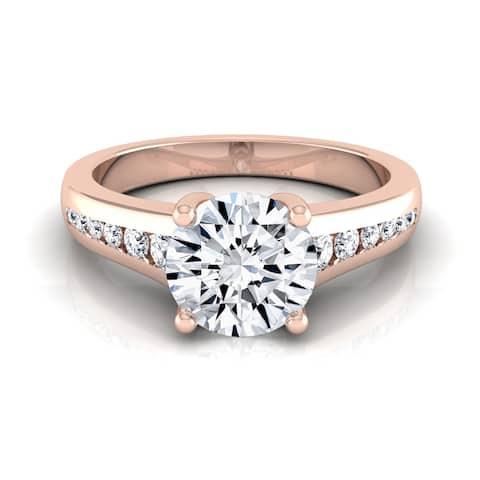14k Rose Gold 5/8ct TDW White Diamond Channel Engagement Ring