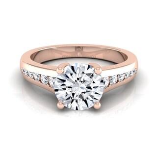 14k Rose Gold 5/8ct TDW White Diamond Channel Engagement Ring (H-I, VS1-VS2)