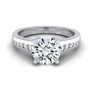 14k White Gold 5/8ct TDW White Diamond Channel Engagement Ring