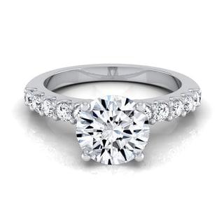 14k White Gold 7/8ct TDW White Diamond Shared Prong Engagement Ring