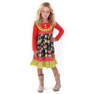 Jelly the Pug Kids' Multicolored Cotton Ducky Dress