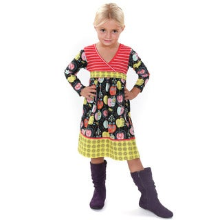 Jelly the Pug Kids' Abbey Multicolored Cotton Knit Dress