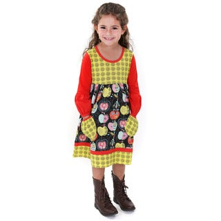Jelly the Pug Kid's 'Delany' Multicolor Cotton Knit Dress