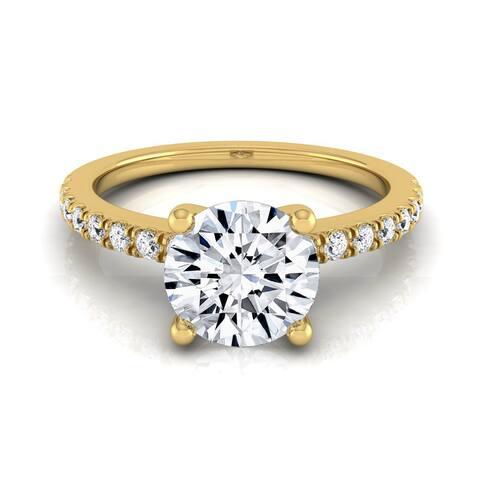 14k Yellow Gold 3/4ct TDW White Diamond Engagement Ring