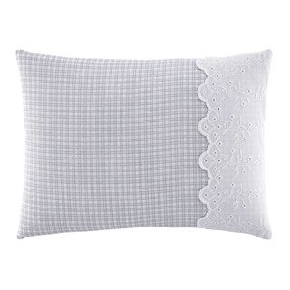 Laura Ashley Sophia Plaid Breakfast Pillow