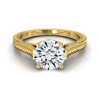 14k Yellow Gold 1/2ct TDW White Diamond Engagement Ring (H-I, VS1-VS2)