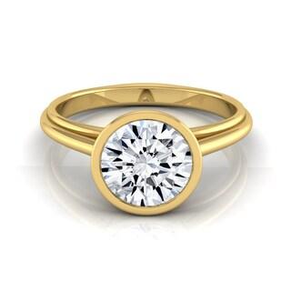 14k Yellow Gold 1/2ct TDW Round Diamond Bezel Solitaire Engagement Ring (H-I, VS1-VS2)
