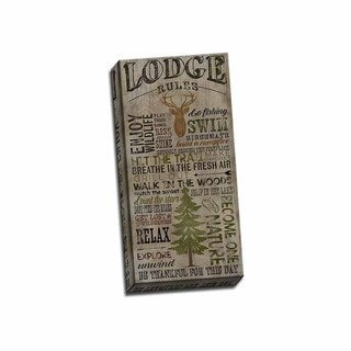 Picture It on Canvas 'Lodge Rules' Wrapped Canvas Art