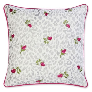 Betsey Johnson Polished Punk Leopard Floral Pillow
