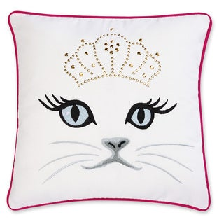 Betsey Johnson Polished Punk Cat Decorative Pillow