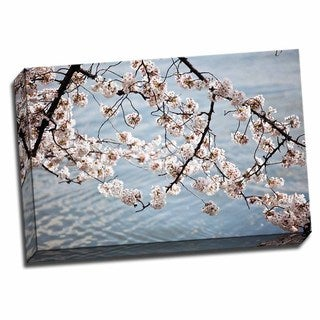 Picture It on Canvas 'Cherry Blossoms II' 24-inch x 16-inch Wrapped Canvas