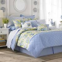 Laura Ashley Salisbury Blue & Yellow Floral Comforter Set
