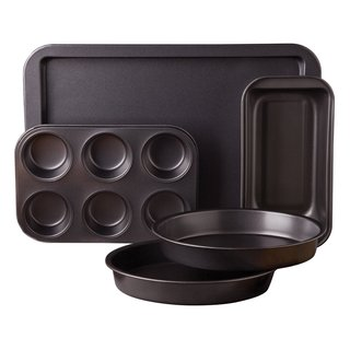 Sunbeam Kitchen Bake Black Carbon Steel Nonstick 5-piece Bakeware Set