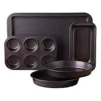 Sunbeam Kitchen Bake Black Carbon Steel Nonstick 5-piece Bakeware Set