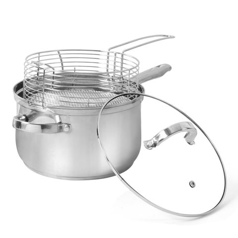 Oster Sanger Field Stainless Steel Stove-top Deep Fryer Set with Lid