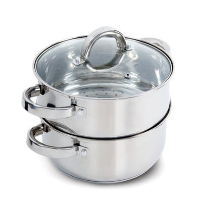 Oster Hali Stainless Steel Stovetop Steamer Set With Lid - Stainless Steel