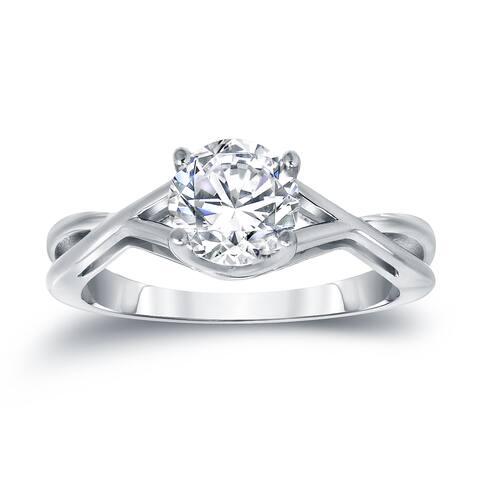 Auriya Platinum 1 1/4ctw Solitaire Diamond Engagement Ring