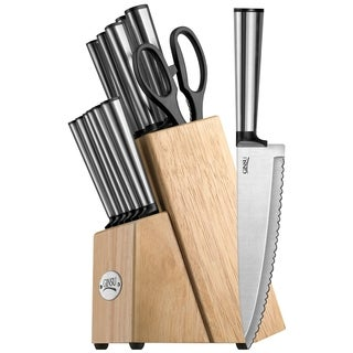 Koden Series Stainless Steel 14-piece Knife Set With Natural Block