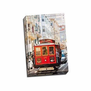 Picture It On Canvas 'Riding the Trolley II' Multicolored Wrapped Canvas Artwork