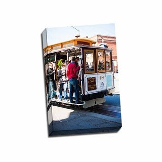 Picture It on Canvas 'Riding the Trolley I' Wrapped Canvas