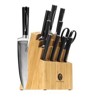 Chikara Hanaita Damascus Stainless Steel 12-piece Cutlery Set