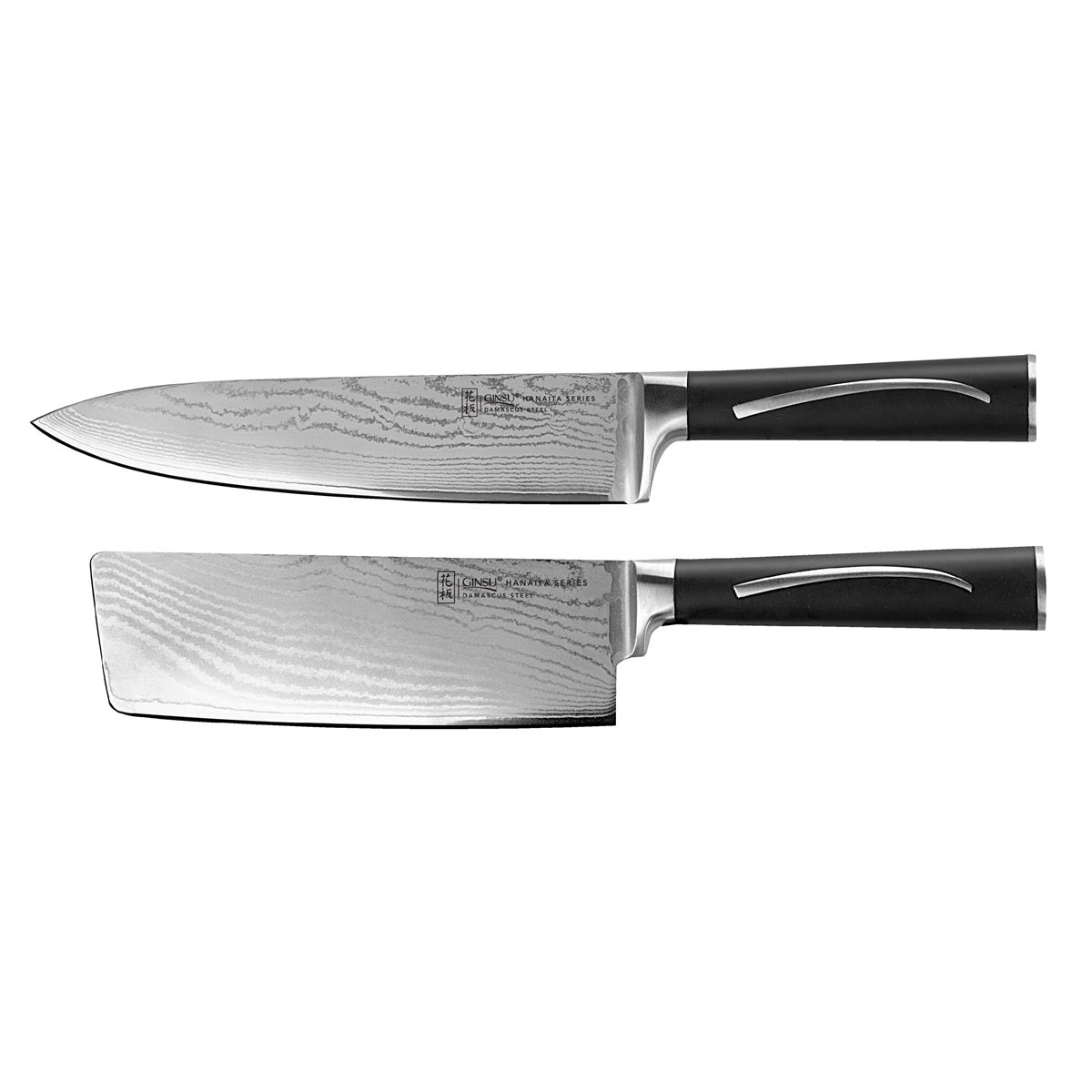 Chikara Damascus Two-piece Cleaver and Chef Set (2 Piece ...
