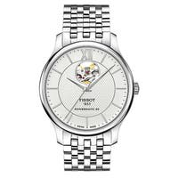Tissot Men's T0639071103800 Tradition Silver Dial Automatic Watch