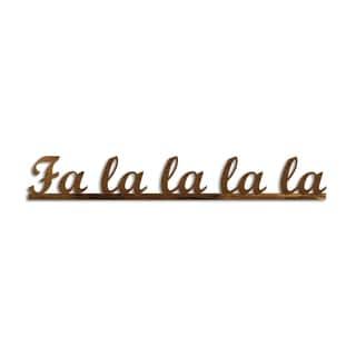 Letter2Word 'Falalala' PVC Dimensional Seasonal Decor