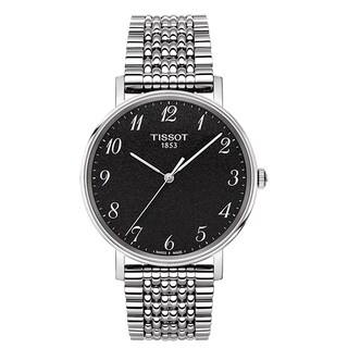 Tissot Men's T-Classic Everytime Rhodium Dial Watch
