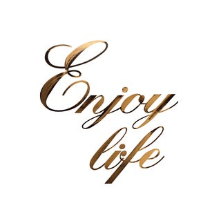 Letter2Word Enjoy Life Dimensional Decor