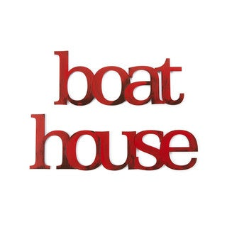 Letter2Word 'Boat House' Dimensional Decor
