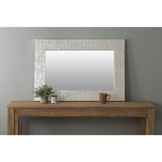 East At Main's Campbell Off-White Rectangle Shell - Capiz Wall Mirror