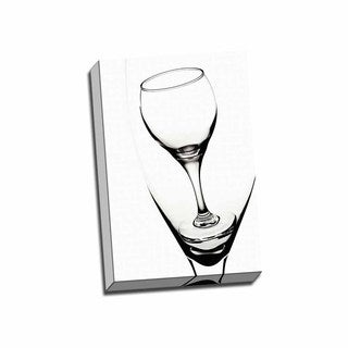 Picture It on Canvas 'Graphic Wine Glasses' Wrapped Canvas Wall Art