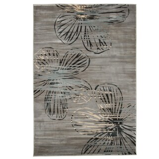 Windsor Home Opus Modern Floral Area Rug - Grey - 3'3x5'