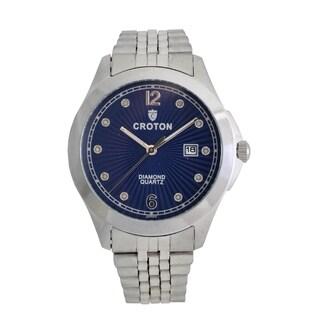 Croton Mens CN307562SSBL Stainless Silvertone 10 Diamond dial Watch|https://ak1.ostkcdn.com/images/products/13221527/P19939256.jpg?_ostk_perf_=percv&impolicy=medium