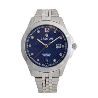 Croton Mens CN307562SSBL Stainless Silvertone 10 Diamond dial Watch https://ak1.ostkcdn.com/images/products/13221527/P19939256.jpg?impolicy=medium